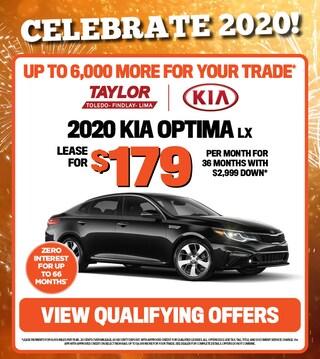 January Specials - 2020 Kia Optima