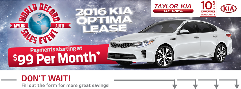 The World Record Sales Event Is Going On At Taylor Kia Of Lima.