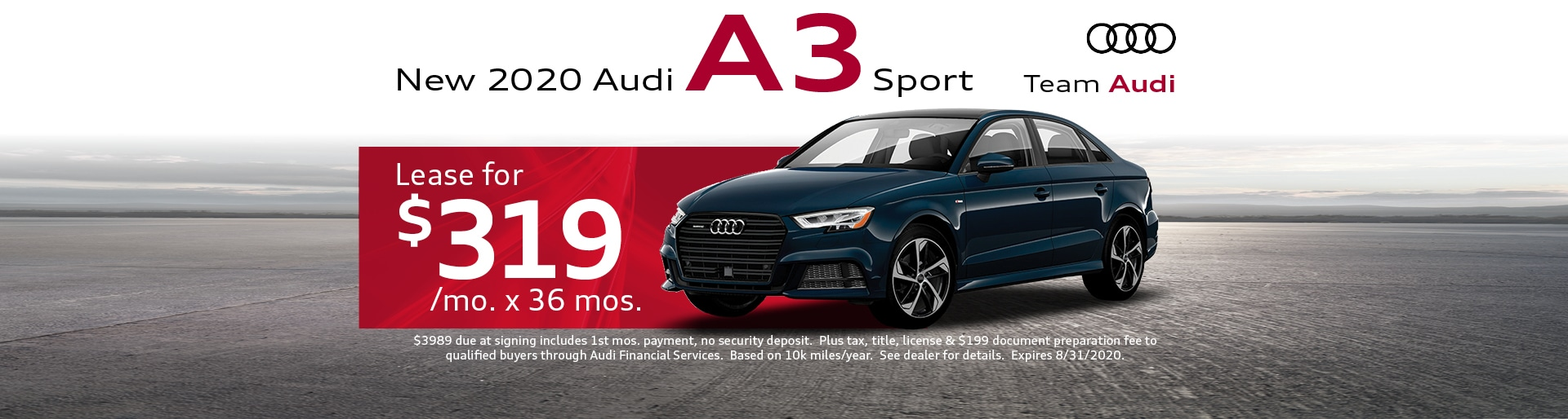 2020 Audi A3 Lease for $319 | Merrillville, IN