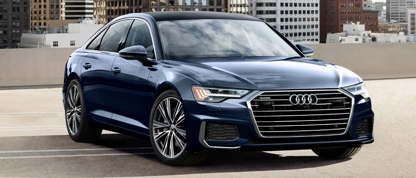2020 Audi A6 Parked on a Rooftop