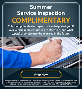 Complimentary Summer Service Inspection