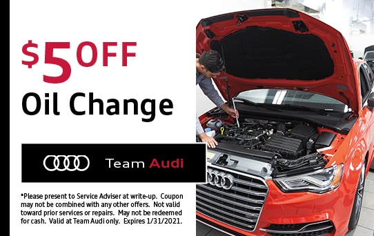 Oil Change Discount at Team Audi Merrillville, IN