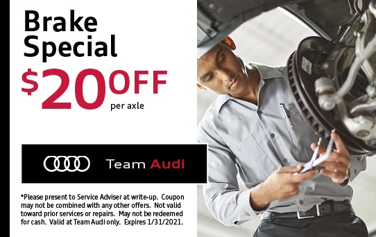 Brake Special at Team Audi Merrillville, IN