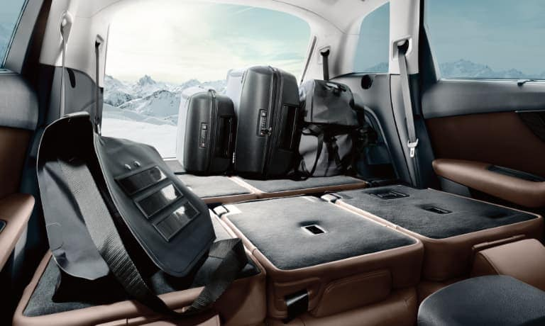 2020 Audi Q7 Backseats Down and Luggage