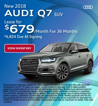 New 2018 Audi Q7 SUV
