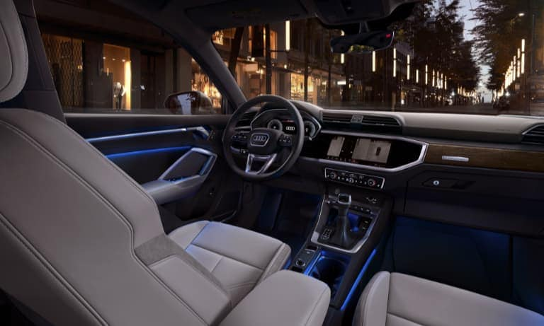 2020 Audi Q3 Leather Interior Dashboard with Ambient LED Lighting