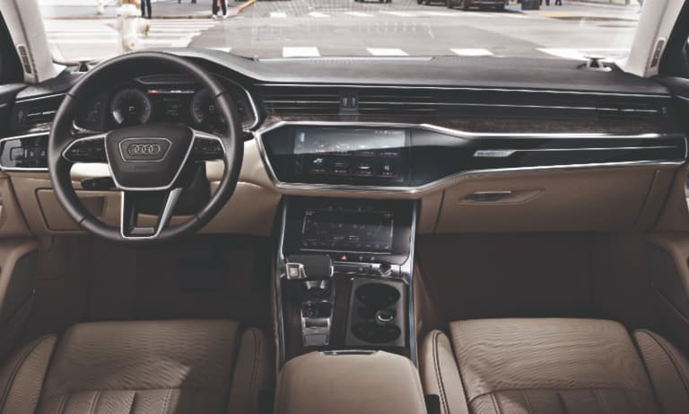2019 Audi A6 Tan Leather Interior Dashboard