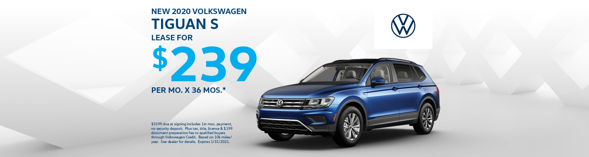 2020 Tiguan $239 Lease at Team VW | Merrillville, IN