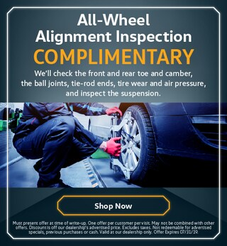 Complimentary All-Wheel Alignment Inspection