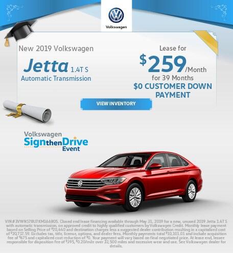 2019 Volkswagen Jetta 1.4T S - Lease