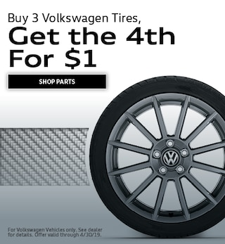 Buy 3 Volkswagen Tires, Get the 4th For $1