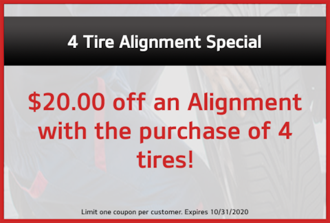 4 Tire Alignment Special