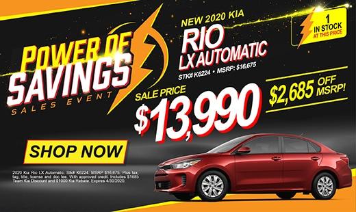 New 2020 Kia Rio