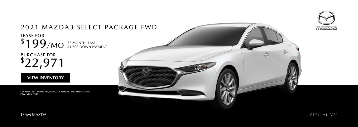 2021 Mazda3 Select Package FWD