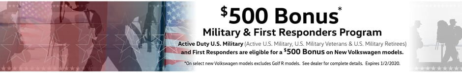 $500 Bonus: Military & First Responders Program