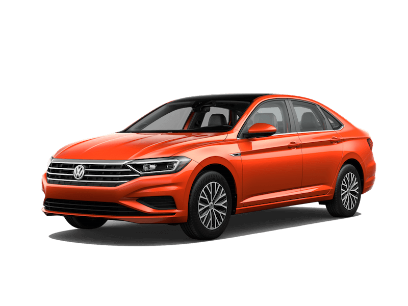 An orange 2019 Volkswagen SEL Premium