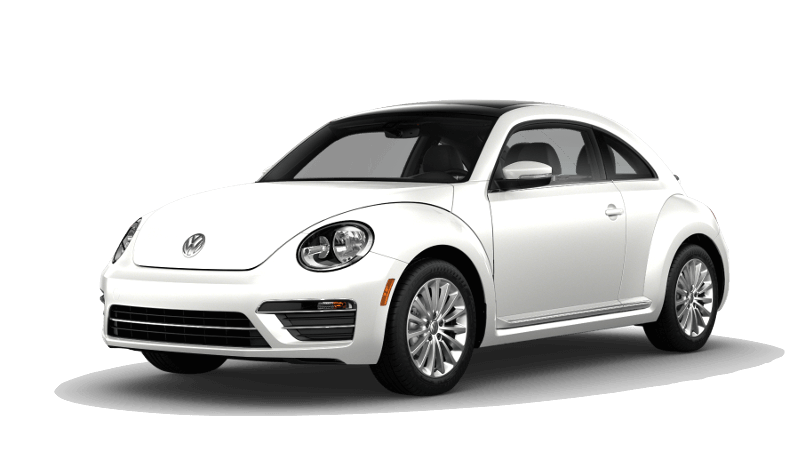 A white 2019 Volkswagen Beetle Final Edition SE