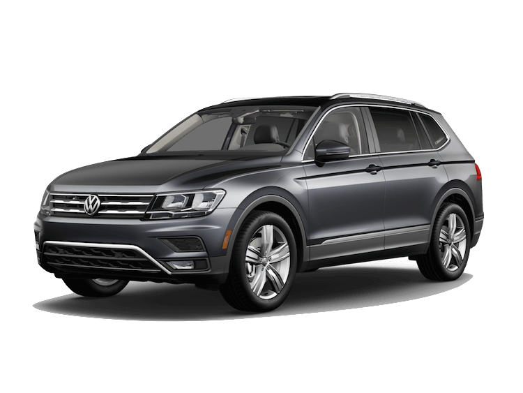 A grey 2020 VW Tiguan SEL Premium R-Line with 4MOTION