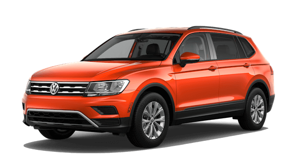 An orange 2019 Volkswagen Tiguan S