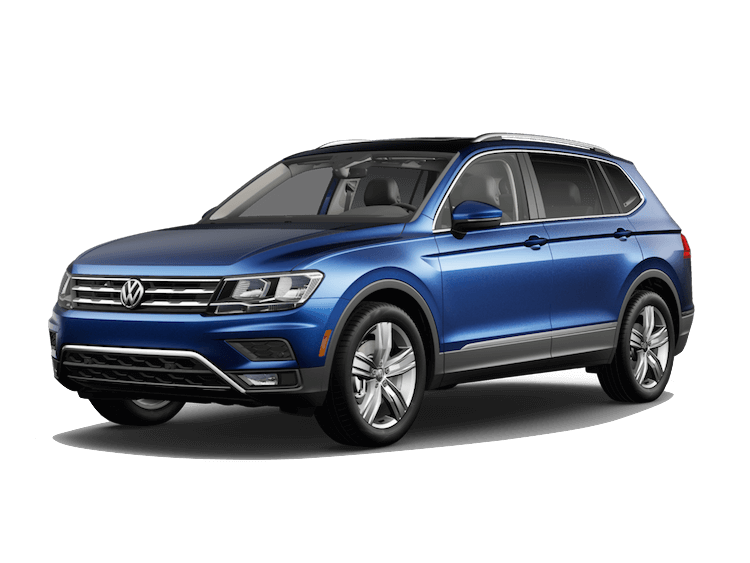 A blue 2020 VW Tiguan SE with 4MOTION