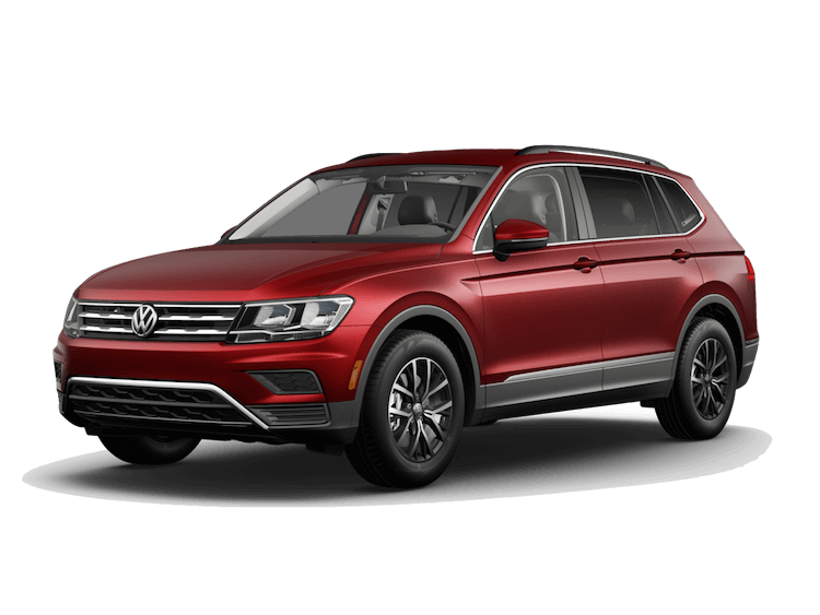 A red 2020 VW Tiguan SE