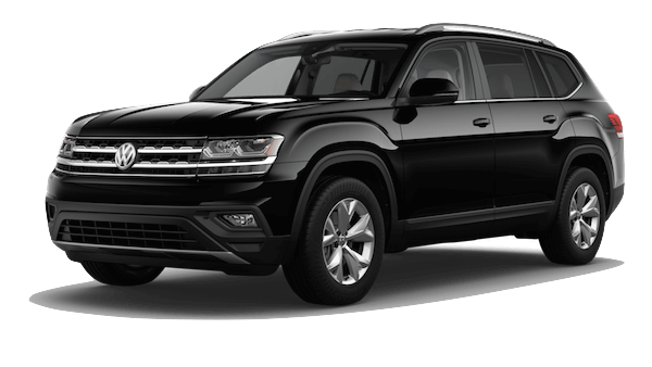 A black 2019 Volkswagen Atlas