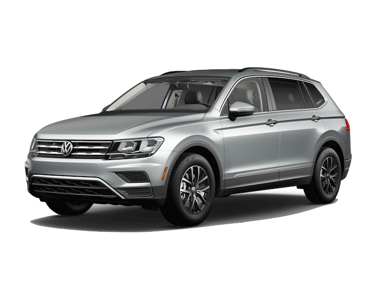 A silver 2020 VW Tiguan SE with 4MOTION