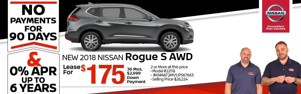 Superior 2018 Nissan Rogue S AWD Lease Special At Team Nissan New Hampshire