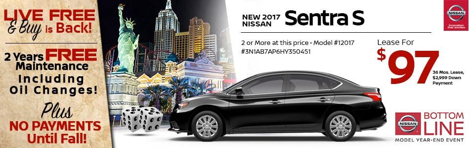 2017 Nissan Sentra S at Team Nissan New Hampshire