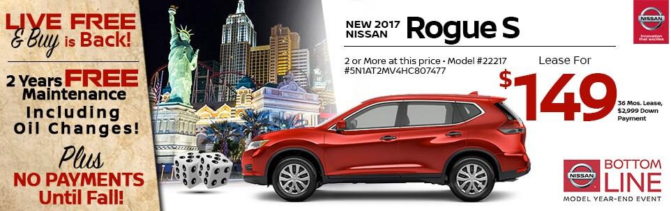 2017 Nissan Rogue S at Team Nissan New Hampshire
