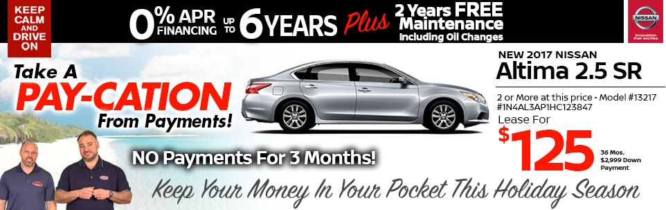 2017 Nissan Altima 2.5 SR Lease Special at Team Nissan New Hampshire