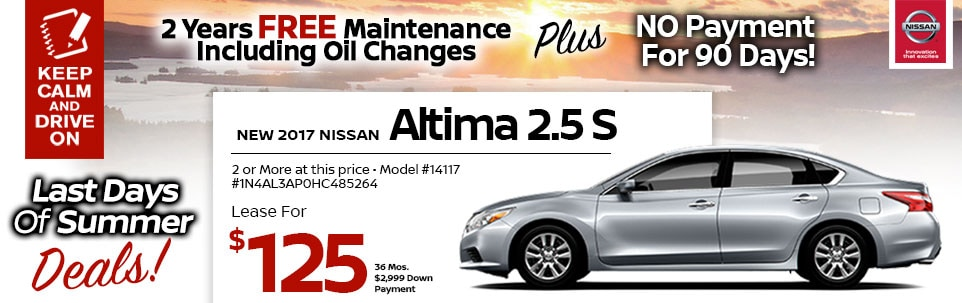 2017 Nissan Altima 2.5 S at Team Nissan New Hampshire