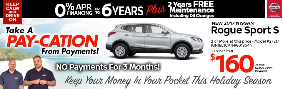 2017 Nissan Rogue Sport S Lease Special at Team Nissan New Hampshire