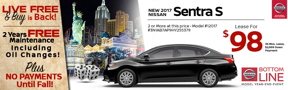 2017 Nissan Sentra S at Team Nissan North
