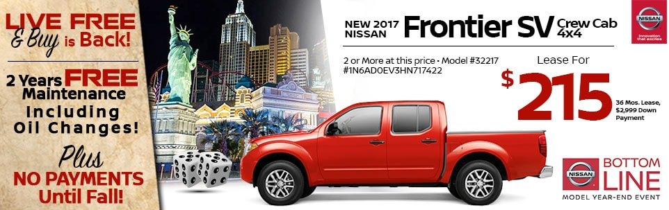 2017 Nissan Frontier SV Crew Cab 4x4 at Team Nissan North