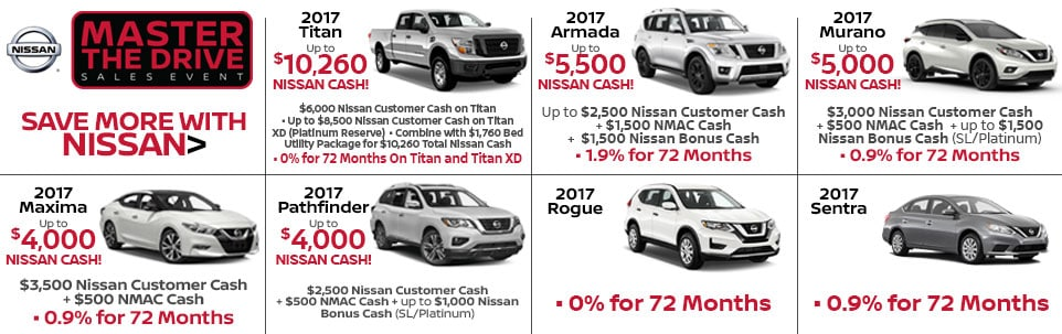 Master the Drive Sales Event at Team Nissan North