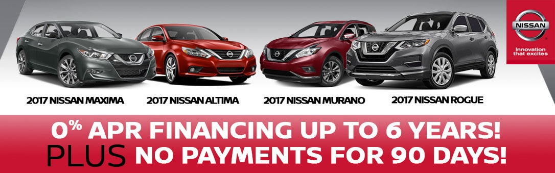 0% Financing for up to 6 Years at Team Nissan North
