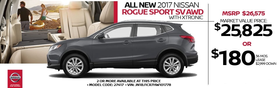2017 Nissan Rogue Sport SV AWD w/ Xtronic at Team Nissan North