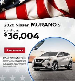 2020 Nissan Murano S  | May Offer