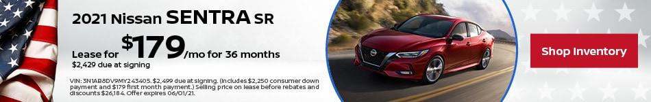 2021 Nissan Sentra SR | May Offer