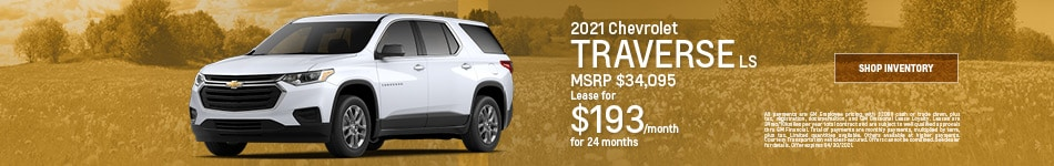 2021 Chevrolet Traverse LS- April Offer