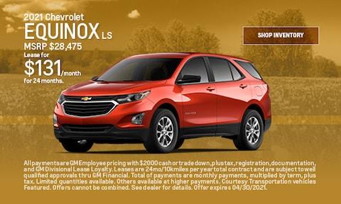 2021 Chevrolet Equinox LS- April Offer