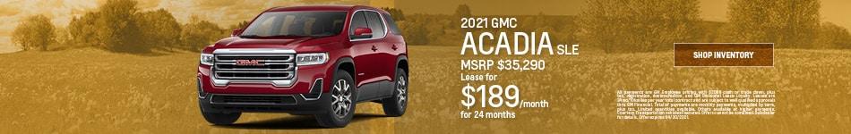 2021 GMC Acadia SLE- April Offer
