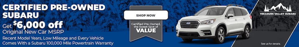 Certified Pre-Owned Vehicle Special