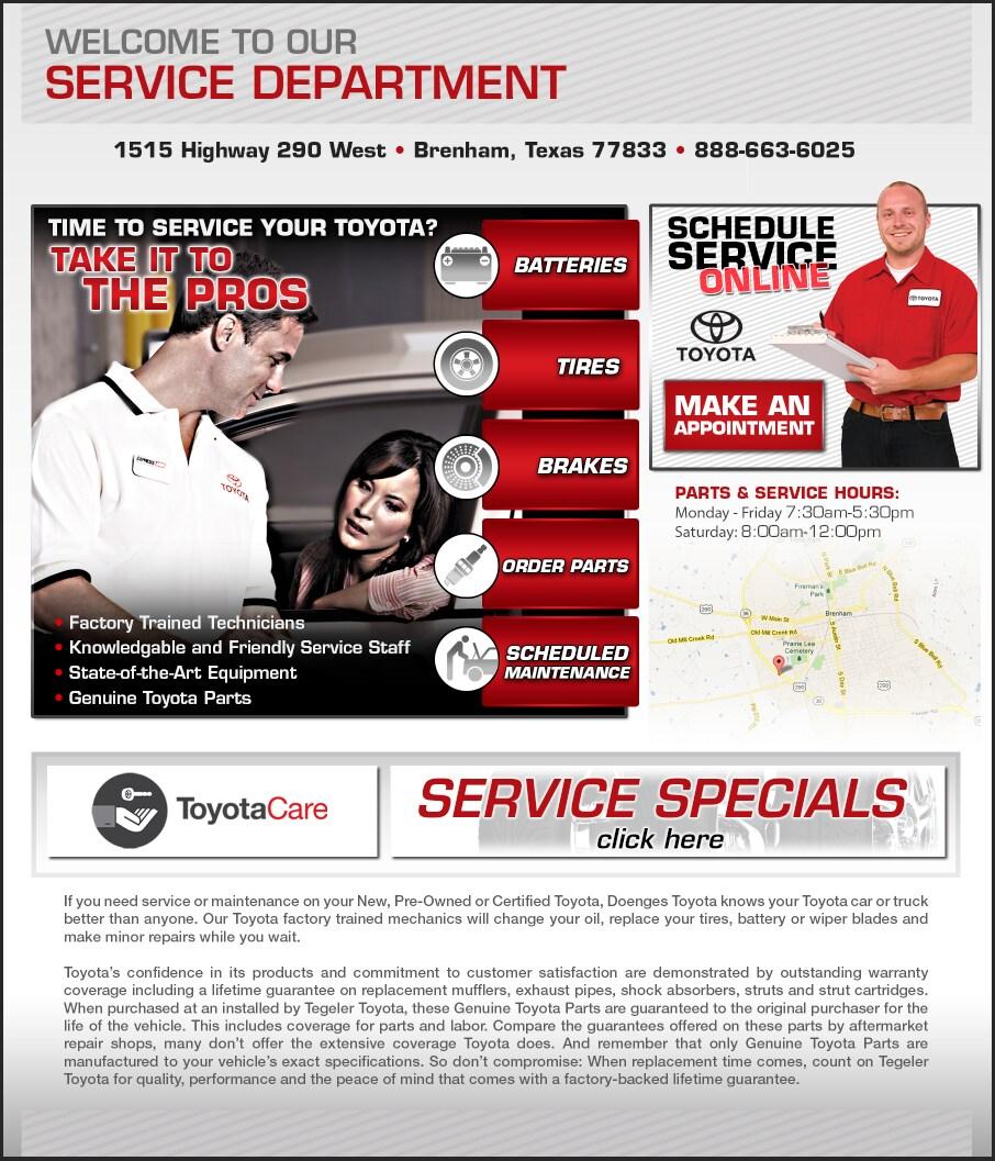 Tegeler Toyota New Toyota Dealership In Brenham Tx 77833