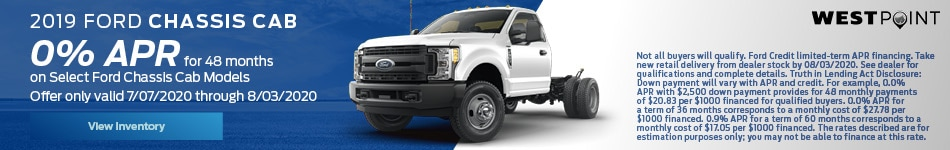 2019 Chassis Cab - July