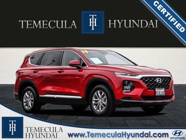Certified Pre-Owned 2019 Hyundai Santa Fe SE 2.4 Certified SUV in Temecula, CA near Hemet