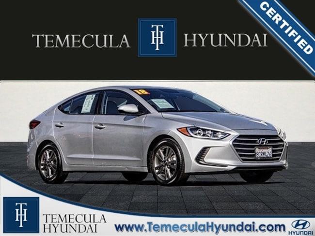 Certified Pre-Owned 2018 Hyundai Elantra SEL Certified Sedan in Temecula, CA near Hemet