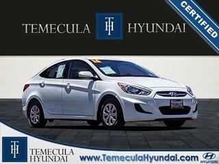 Used 2016 Hyundai Accent SE Certified Sedan in Temecula, CA