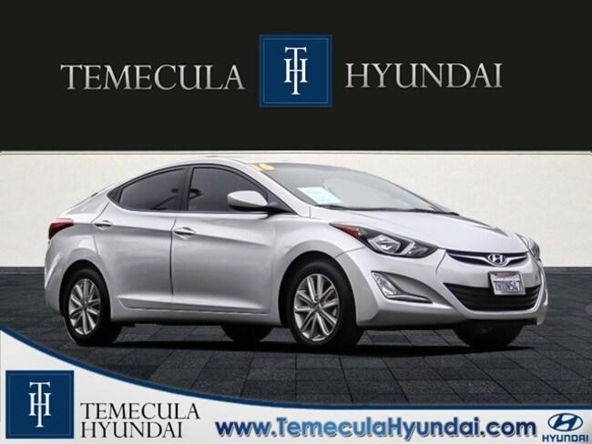 Used 2016 Hyundai Elantra SE Popular Package-Certified Sedan in Temecula, CA near Hemet